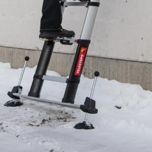 Verstelbare voeten voor Telesteps ladder met stabilisatievoet