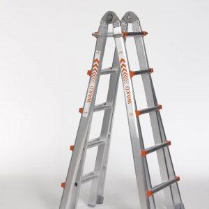 4 x 5 sporten telescopische ladder
