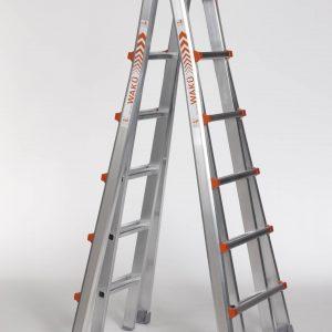 4 x 6 sporten - telescopische ladder